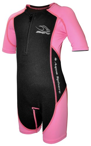 Aqua Sphere Stingray Schwimmanzug Neopren für Kinder pink/schwarz, S-104- 4 Jahre