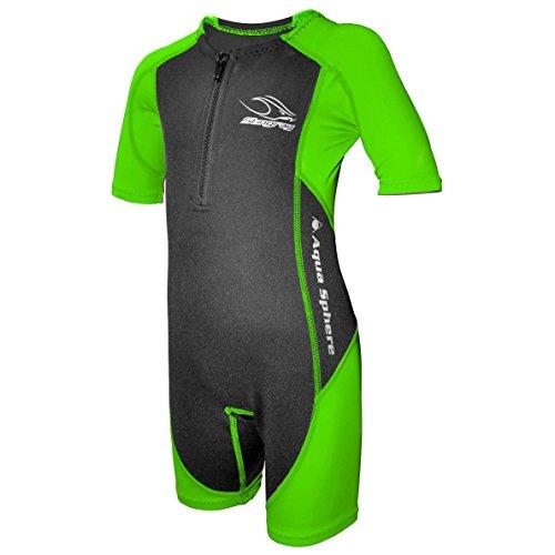 Aqua Sphere Stingray, Schwimmanzug Neopren für Kinder XL, grün