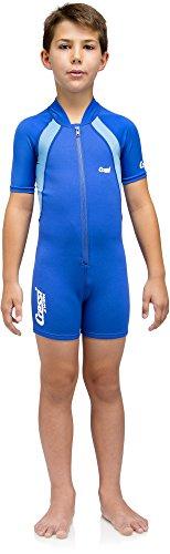Cressi Unisex – Kinder Schwimmanzug Shorty, Blau, S – Jahre 1/2, DG001001