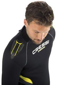 Cressi Herren Tauchanzug Castoro 5 mm mit Rückenreißverschluss, Schwarz/Gelb/Grau, XL, LR106405 - 4