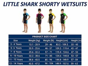 Neoprenanzug kaufen-Cressi Jungen Little Shark Shorty Wetsuit Kinder Neoprenanzug Schwimmanzug, Blau/Hellblau, 5/6 Jahre - 6