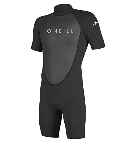 O'Neill Wetsuits Men's Reactor-2 2mm Back Zip Spring Wetsuit, Black/Black, 3XL